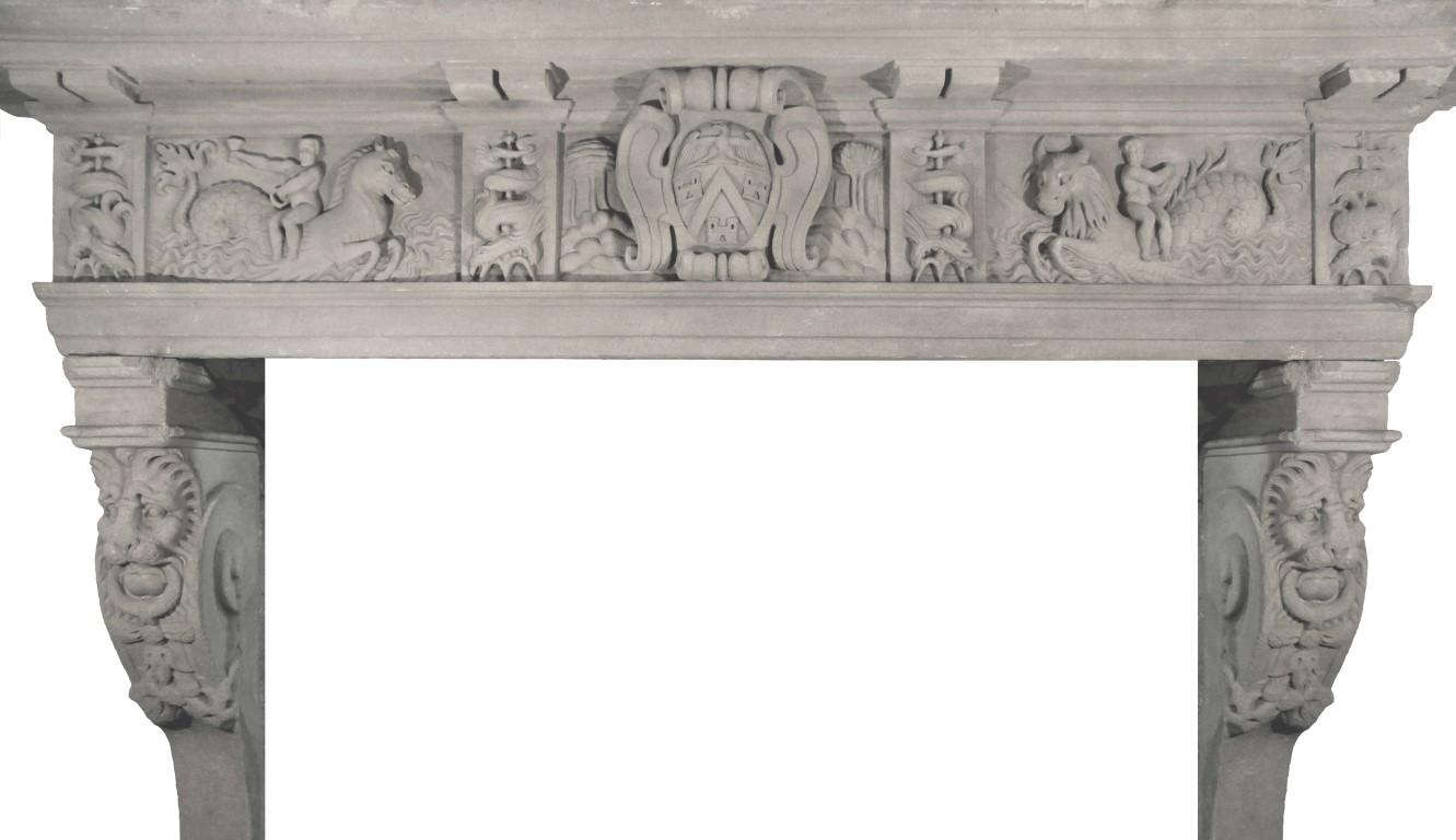 Camini Antichi Camini Rinascimentali In Pietra Serena E Marmo
