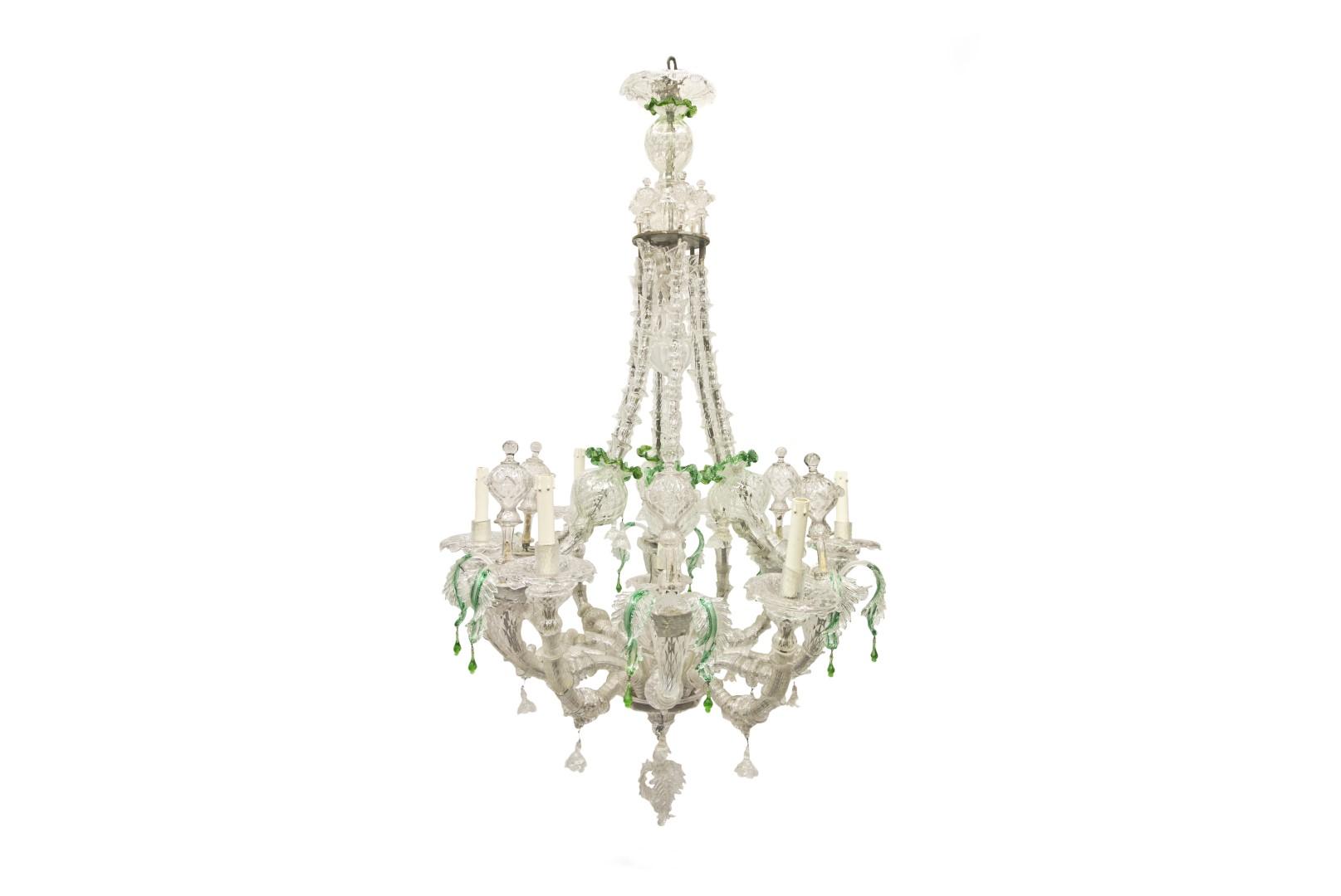 Lampadari antichi in vetro   Albrici Firenze -> Lampadari Antichi Capodimonte